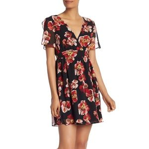 NWT Madewell tulip sleeve rose print dress size 4